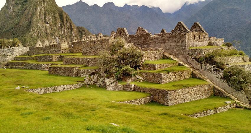 Bild von den Machu Picchu Ruinen.