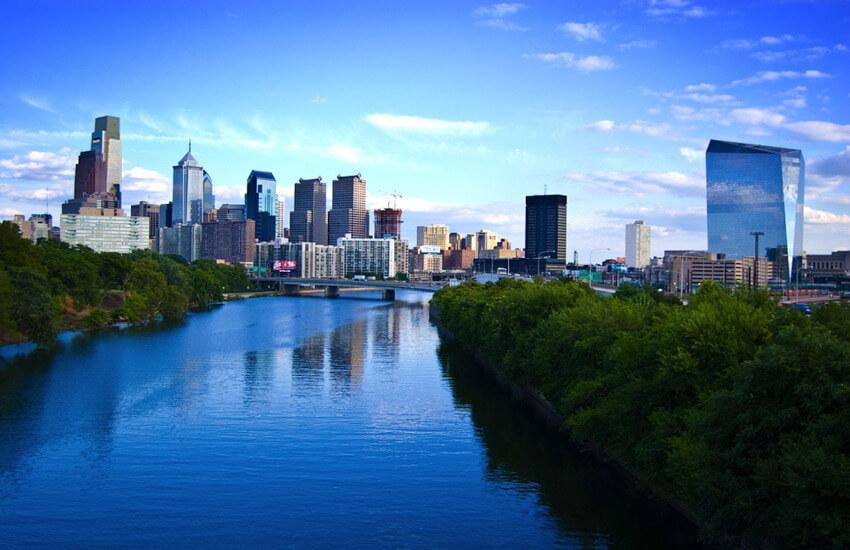 Die Skyline von Philadelphia.